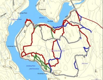 Cycling Trails around Koocanusa