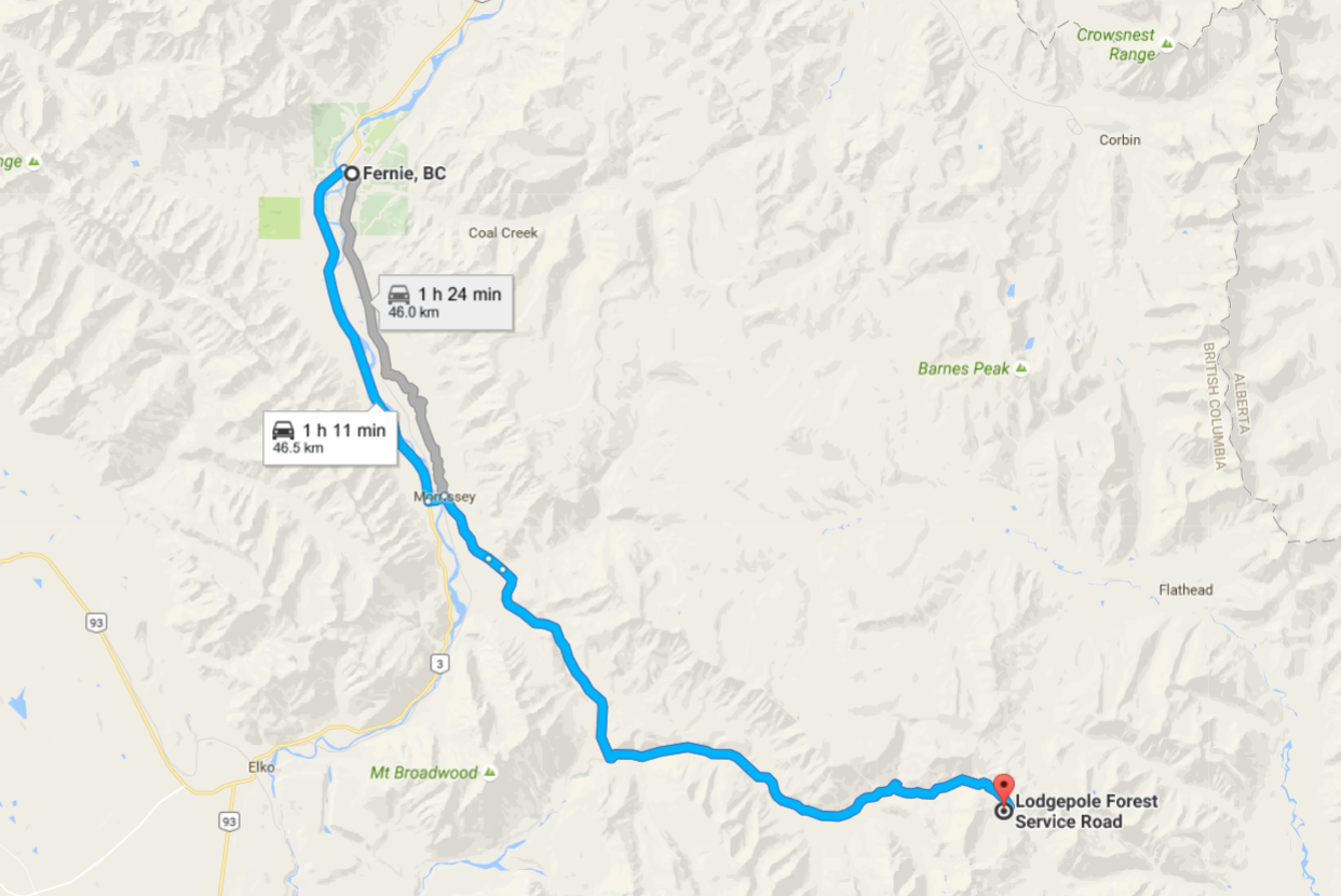Harvey Pass directions