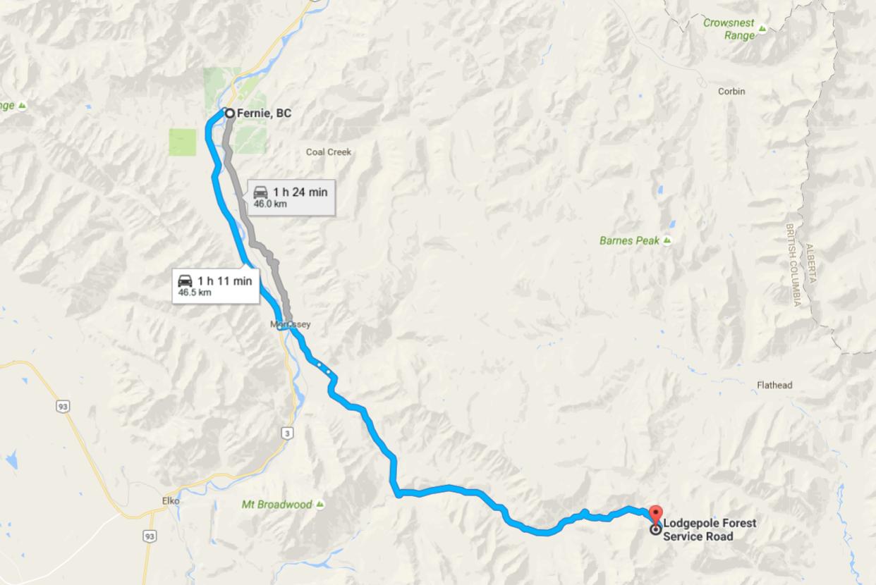 Harvey Pass directions