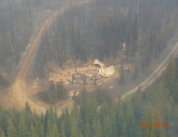 Harvey Hut Succumbs to Fire