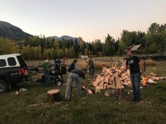 Preparing cabins for the winter