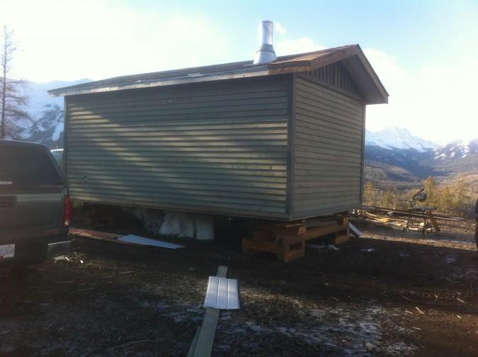 Montane cabin backside