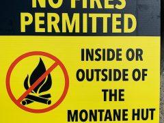 Montane Hut Fire Ban