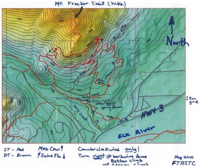 New Climbing Route (Proctor Mountain)
