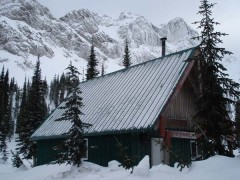 Thunder Meadows Hut on December 11th