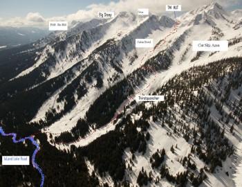 Thunder Meadows Access and Ski Terrain