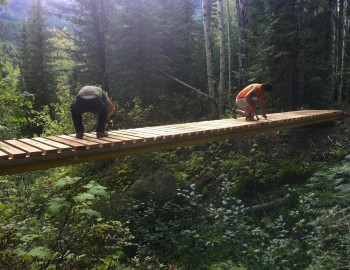 It's September and Mountain Bike Bridges Are Flying!