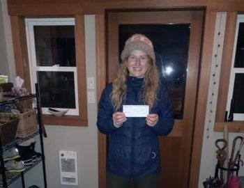 Megan Bell receives Avalanche Bursary